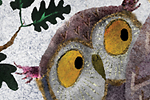 Milly Teggle Illustration - milly, teggle, milly teggle, photoshop, adobe, digital art, adobe photoshop, digital, texture, textured, textures, picture book, fiction, educational, owls, owls, birds, bird, chicks, chick, mummy, mother, mum, mom, feathers, beak, eyes, big eyes, branch,