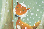 Bruno Robert Illustration - bruno, robert, bruno robert, painted, traditional, paint, commercial, picture book, young reader, YA, fox, woods, winter, snow, cold, freezing,