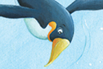 Bruno Robert Illustration - bruno, robert, bruno robert, painted, traditional, paint, commercial, picture book, young reader, YA, humour, penguins, underwater, ocean, sea, fish, animals