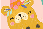 Emma Haines Illustration - emma haines, emma, haines, illustrator, artist, bright, colourful, digital, photshop, hand drawn, colour, funny, cute, sweet, birthday, animal, card, greeting card, cheetah, leopard, party, hat, party hat, balloons, gift, present, plants,