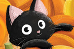 Eva Maria Gey Illustration - eva maria gey, commercial, educational, mass market, digital, YA, young reader, colour, colourful, digital, photoshop, bright, autumn, fall, cat, animals, pumpkins, cute, halloween, nature, sweet, seasons, vegetables