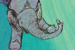 Gabby Grant Illustration - gabby grant, gabby, grant, traditional, digital, picture book, fiction, educational, graphic novel, heart, commercial, painted, classic, elephants, animals, trapeze, colourful, colour, letter, transfer
