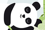 Isabel Aniel Illustration - sabel aniel, isabel, aniel, digital, photoshop, illustrator, commercial, picture book, novelty, board book, sweet, cute, young, animals, panda, bamboo, eating, grazing, lying, sleeping, napping, happy, content, leaves, sticks, nature, wildlife, endangered