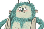 Isobel Lundie Illustration - isobel, lundie, isobel lundie, illustrator, digital, colour, colourful, fiction, non-fiction, picture book, monsters, creatures, fantasy, rabbit, hairy, messy, sticks, orgres, fluffy, animals, friends, characters, funny,