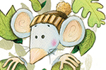 Jon Bishop Illustration - on, bishop, jon bishop, handdrawn, painted, picturebook, YA, young reader, texture, mouse, mice, animals, cute, sweet, leaves, leaf, pattern