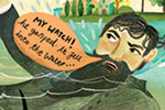 Jojo Clinch Illustration - jojo, clinch, jojo clinch, fiction, picture book, pencil, colour, hand drawn, traditional, digital, texture, tale, story, comic strip, man, sea, ocean, water, mermaid, magical, creature, rescue, watch, heart, crab, coral, seaweed, ship, boat,