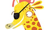 Jordan Wray Illustration - Jordan, Wray, Jordan Wray, illustration, pencil, drawing, photoshop, colour, colourful, commerical, mass market, fiction, cute, sweet, animals, nature, wild, giraffe, ants, bird, girl, person, figure, character, picnic, fun, eye patch, hat,