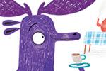 Jordan Wray Illustration - Jordan, Wray, Jordan Wray, illustration, pencil, drawing, photoshop, colour, colourful, commerical, mass market, fiction, cute, sweet, animal, wild, moose, purple, drawing, artist, imagination, creative, tea, turkey, bird, hat, top hat, road, flowers,