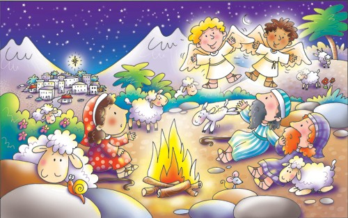 Helen Prole Illustration - helen prole, educational, commercial, digital, mass market, value, activity, colouring, people, nativity, bible, biblical, angels