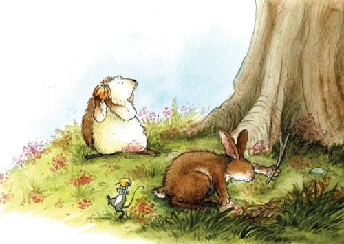 Hannah Whitty Illustration - hannah whitty, commercial, paint, painted, watercolour, picture book, picturebook, fiction, sweet, animals, hedgehogs, rabbits, hares, bunny, bunnies, mice, mouse
