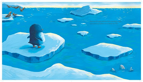 Alison Brown Illustration - alison, brown, alison brown, paint, painted, acrylic, commercial, trade, picture book, picturebook, novelty, mass market, fiction, young reader, YA, animal,cute, sweet, penguin, arctic, ice, sea, ocean