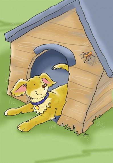 Andrew Geeson Illustration - andrew, geeson, digital, copy artist, photoshop, illustrator, educational, novelty, board books, dog, kennel, spider, garden, pet
