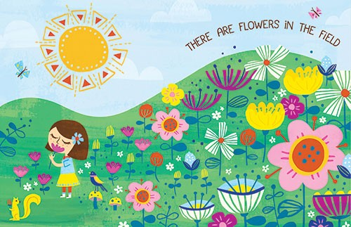 Angela Navarra Illustration - angela, navarra, angela navarra, commercial, educational, editorial, advertising, greetings cards, licensing, design, graphic, stationary, digital, photoshop, textured, illustrator, girl, flowers, detail, sun, day, nature, field, garden, cute, sweet, young