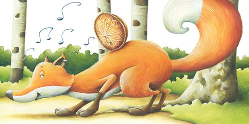 Bruno Robert Illustration - bruno, robert, bruno robert, painted, traditional, paint, commercial, picture book, young reader, YA,, fox, woods, trees, food, hunt, humour