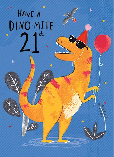 Emma Haines Illustration - emma haines, emma, haines, illustrator, artist, bright, colourful, digital, photshop, hand drawn, colour, funny cute, sweet, dinosaur, birthday, card, greeting card, happy birthday, party, hat, party hat, balloon, bird, gift, present, plants, sunglasses,