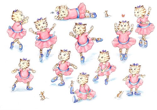 Heather Dickinson Illustration - heather, dickinson, heather dickinson, traditional, paint, painted, painting, watercolour, mouse, pencil, commercial, picture book, fiction, educational, YA, young reader, cat, animal , ballet, dance, dancing, cute, sweet