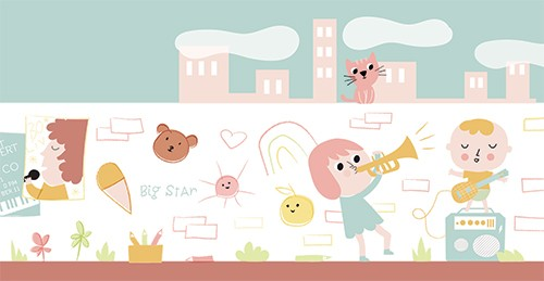 Isabel Aniel Illustration - abel aniel, isabel, aniel, digital, photoshop, illustrator, commercial, picture book, novelty, board book, sweet, cute, young, children, pastels, colourful, colour, boy, girl, child, playtime, playing, play, cat, animal, YA, young reader