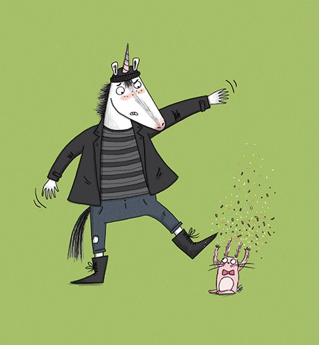 Isobel Lundie Illustration - isobel, lundie, isobel lundie, illustrator, digital, colour, colourful, fiction, non-fiction, picture book, unicorn, hat, hoodie, coat, rabbit, bunny, confetti, surprise, grumpy, animals, wild, mystical, magic, fantasy, small, big,