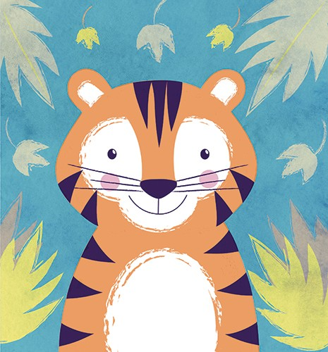 Jessica Allan Illustration - jessica, allan, jessica allan, commercial, educational, fiction, mass market, value, greetings cards, funny, picture book, young reader, YA, painted, digital, photoshop, pattern, cute, tiger, sweet, young