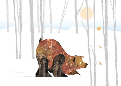 Jonny Lambert Illustration - jonny, lambert, jonny lambert, jonathan, lambert, jonathan lambert, digital, commercial, trade, picture book, fiction, educational, animals, bears, forest, trees, autumn, winter, leaves, snow
