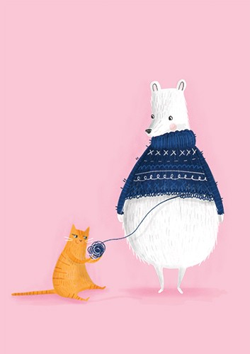 Jessica Rose Illustration - jes, oconnor, jes oconnor, illustrator, illustration, digital, photoshop, trade, picture book, polar bear, animal, cat, funny, quirky, pattern