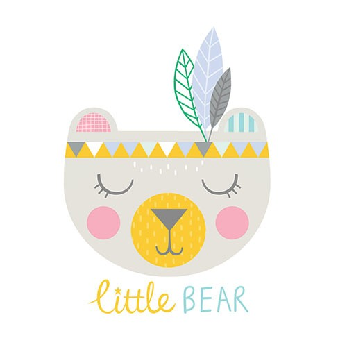 Katy Halford Illustration - katy, halford, licensing, cards, digital, mixed media, collage, digital, photoshop, illustrator, bear, cute, sweet, young, feathers