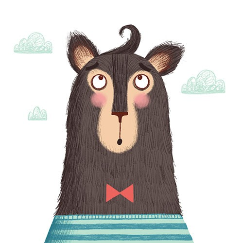 Katy Halford Illustration - katy, halford, fiction, picture book, commercial, mass-market, characters, digital, texture, digital, photoshop, illustrator, beat, curl, hair, cloud, humour, funny, bowtie, stripes