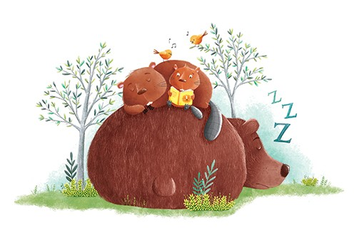Marta Costa Illustration - marta, costa, marta costa, digital, commercial, educational, picture book, young reader, YA, colourful, colour, cute, sweet, animals, beaver, bear