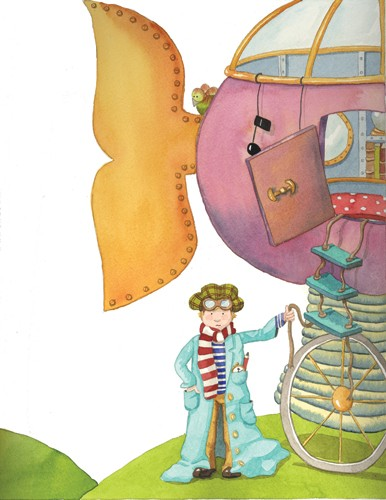 Monica Carretero Illustration - monica carretero, traditional, paint, painted, watercolour, ink, watercolor, picture book, fiction, educational, commercial, trade, people, children, boys, inventors