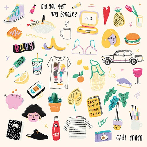 Melissa Chaib Illustration - Melissa Chaib, Melissa, Chaib, pencil, traditional, digital, photoshop, line work, colourful, colour, items, object, collage, things, computer, trainers, car, faces,