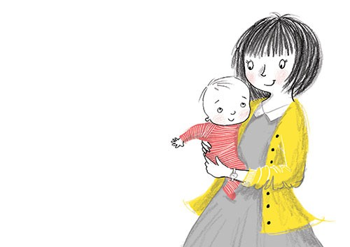 Paula Bowles Illustration - paula, bowles, paula bowles, digital, illustrator, photoshop, cute, sweet, YA, young reader, commercial, picture book, fiction, coloured pencil, sketchy, hand, drawn, mum, daughter, baby, cute, love, sweet, hug, cuddle, fiction