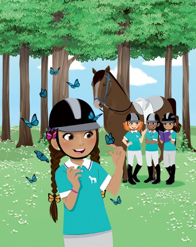 Paula Franco Illustration - paula franco, paula, franco, mass, commercial, digital, educational, advertising, editorial, novelty, fiction, young reader, photoshop, illustrator, girls, women, teenagers, horses, lessons, riding lessons, horse riding, pony, ponies,