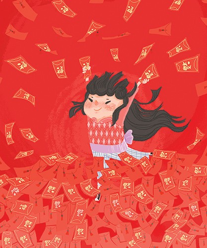 Patricia Hu Illustration - patricia, hu, patricia hu, illustration, digital, pencil, photoshop, colourful, trade, commercial, mass market, picture book, girl, person, figure, chinese new year, new year, tradition, cultural, festive, seasonal, happy, smile, culture,