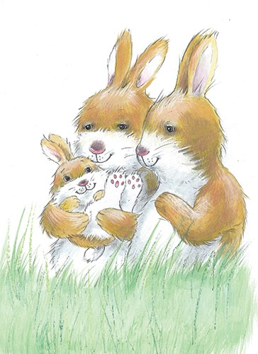 Peter Wilks Illustration - peter, wilks, peter wilks, paint, painted, watercolour, water colour, traditional, commercial, educational, picture book, picturebook, fiction, acrylic, colour, colourful, YA, young reader, animals, bunny, rabbit