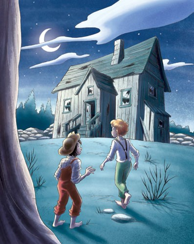Roberta Tedeschi Illustration - oberta tedeschi, roberta, tedeschi, digital, educational, fiction, YA, young reader, colour, colourful, people, person, boy, child, children, adventure, night, night time, house, moon, clouds, friends, friendship