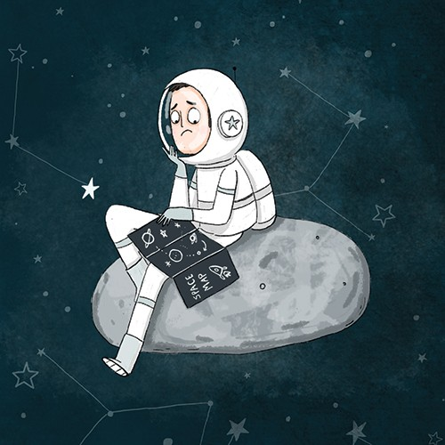 Sernur Isik Illustration - sernur, isik, illustrator, photoshop, illustrator, character, vector, picturebook, trade, YA, young reader, astronaut, space, stars, constellations, map, colour, person