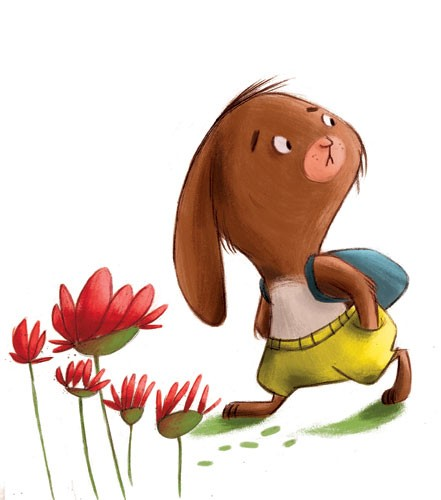 Simona Sanfilippo Illustration - simona, sanfilippo, simona sanfilippo, commercial, picture book, fiction, educational, digital, paint, painted, acrylic, young reader ,YA, rabbit, animal, cute, sweet, colourful, colour,flowers