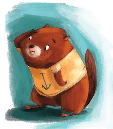 Simona Sanfilippo Illustration - simona, sanfilippo, simona sanfilippo, commercial, picture book, fiction, educational, digital, paint, painted, acrylic, YA, young reader, cute, sweet, beaver, animal, character,