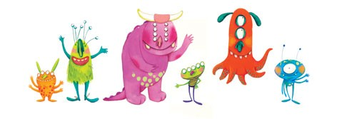 Tamara Anegon Illustration - tamara, anegon, tamara anegon, trade, commercial, picture book, painted, hand drawn, colour, digital, pencils, monsters, colour, colourful, friends, friendly, monster, imagination,