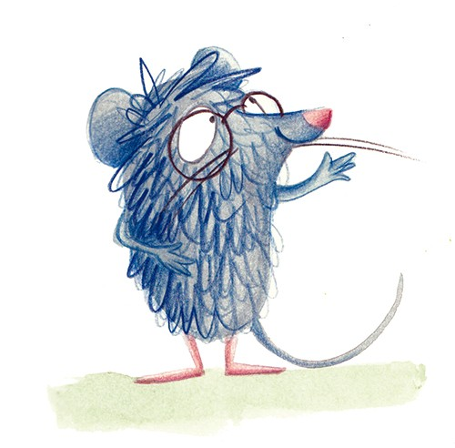 Tamara Anegon Illustration - tamara, anegon, tamara anegon, trade, commercial, picture book, board book, painted, hand drawn, traditional, acrylic, painterly, colour, young reader, colourful, animal, shrew, leonard, character, wild, wildlife, nature, glasses, greeting, hello, wave, h