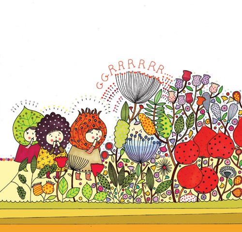 Valeria Valenza Illustration - valeria, valenza, valeria valenza, paint, painted, traditional, decoration, decorative, trade, sophisticated, picture book, flowers, poppies, detailed, flowers, plants, leaves, fairies, fairy, pixie