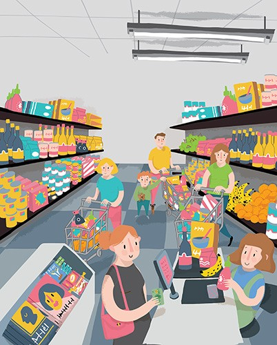 Will Bonner Illustration - will, william, will bonner, william bonner, will george bonner, william george bonner, commercial, trade, educational, fiction, editorial, advertising, greetings cards, supermarket, people, person, food, colour, colourful, children, YA, young reader