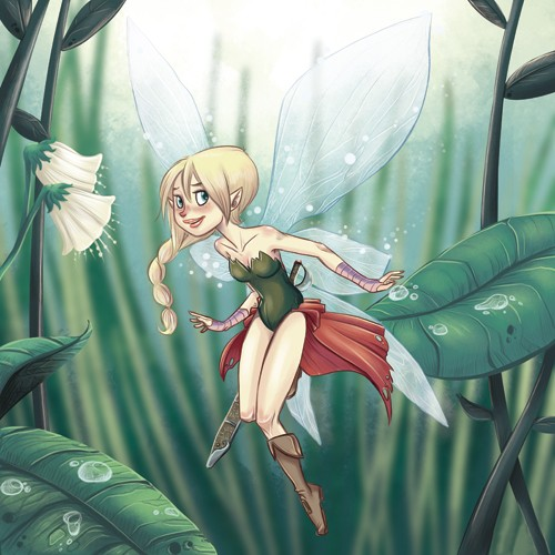 Xavier Bonet Illustration - xavier bonet, xavier, bonet, commercial, fiction, mass market, young reader, picture book, novelty, painted, traditional, digital, photoshop, illustrator, people, person, fantasy, fairies, fairy, wings, trees, branches, leafs, sword, princess,