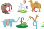 Lucy Boden Illustration - lucy, boden, lucy boden, novelty, mass market, commercial, acrylic, painted, picture book, fiction, animals, YA, young reader, cute, sweet, colour, colourful, alphabet, zebra, elephant, anteater, yak, koala bear, dolphin,camel, butterfly, frog, hippo, jag