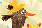 Puy Pinillos Illustration - puy, pillinos, puy pillinos, digital, mixed media, trade, commercial, picture book, novelty, animals, birds, bright, colourful, young, farmyard, animals, chicken, flowers, detail,