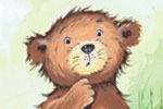 Peter Wilks Illustration - peter, wilks, peter wilks, paint, painted, watercolour, water colour, traditional, commercial, educational, picture book, picturebook, fiction, acrylic, colour, colourful, YA, young reader, animals, bear cub, bear, cub, squirrel, mouse, bunny, rabbit, hed