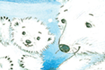 Peter Wilks Illustration - peter, wilks, peter wilks, paint, painted, watercolour, water colour, traditional, commercial, educational, picture book, picturebook, fiction, acrylic, colour, colourful, YA, young reader, animals, bear, polar bear, snowing