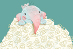 Sara Sanchez Illustration - sara sanchez, traditional, painting, painted, watercolour, acrylic, trade, commercial, picture book, funny, humour, elephant, paper, cute, sweet, mummy, baby, mischievous, cheeky